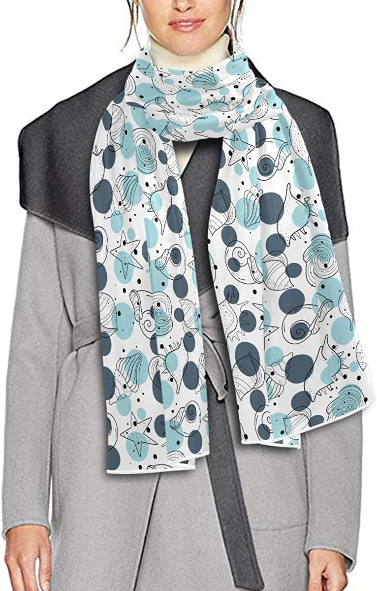 Scarf for Women and Men Shells Summertime Stars Blanket Shawl Scarves Wraps Soft thick Winter Oversized Scarves Lightweight