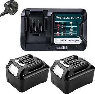 2PCS 12V 4,0A Lithium Replacement Batteries BL1040B + Charger DC10WD for Makita 12V BL1021B, (BL1016) BL1041B BL1040 BL101...