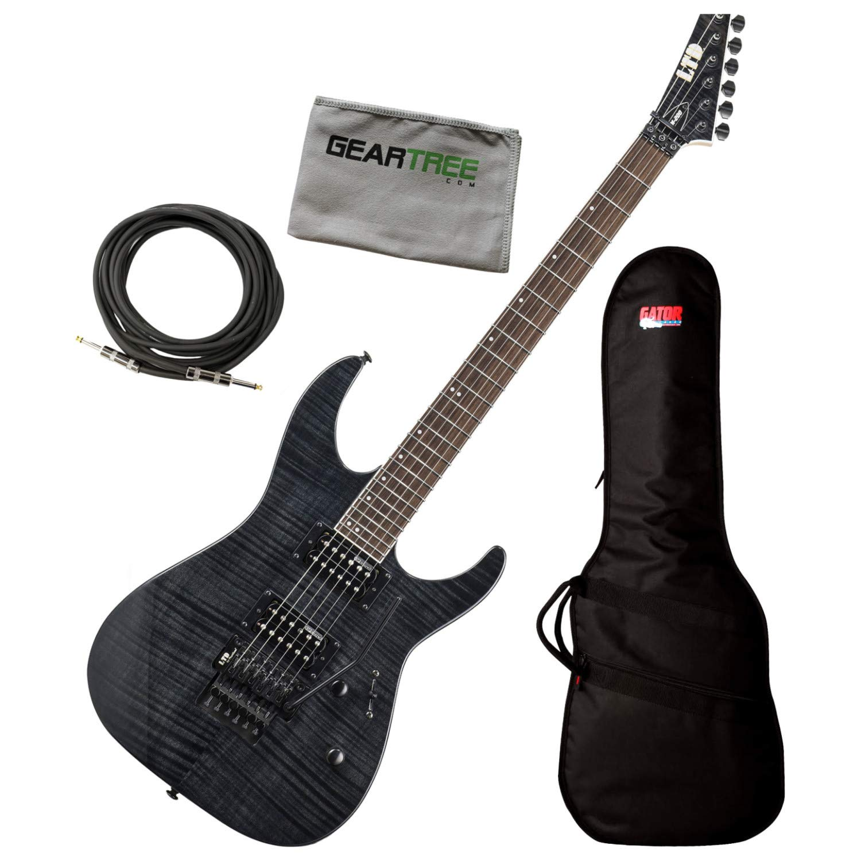Cheap ESP LTD M-200FM M-Series See Thru Black Electric Guitar Bundle w/Gig Bag Cable Black Friday & Cyber Monday 2019