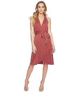 Halter Belted Wrap Dress