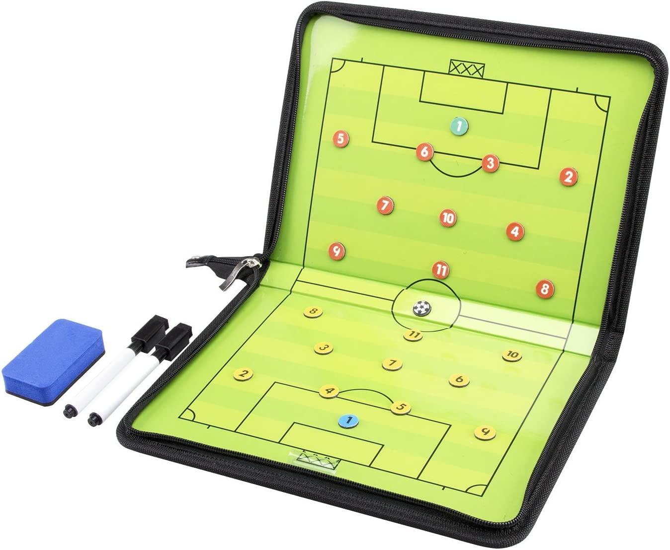 AGPTEK Soccer Coach Board Set Max 68% OFF with Whistle Large discharge sale Carrying Foo a Bag