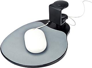 "Aidata UM003B Mouse Platform Under Desk, Sturdy Metal Clamp Fits Onto Desks Up To 40mm/1.57"", Platform Rotates 360 Degrees..."