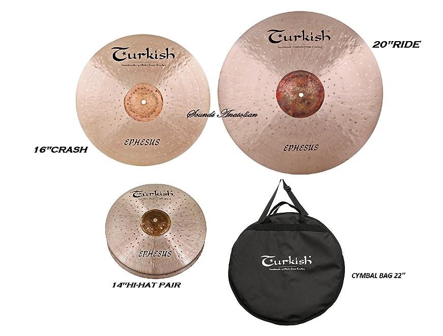 慰めリーガンダンスTurkish Cymbals Ephesus Cymbal Pack Box Set (14HH-16C-20R +BAG) ES-SET1