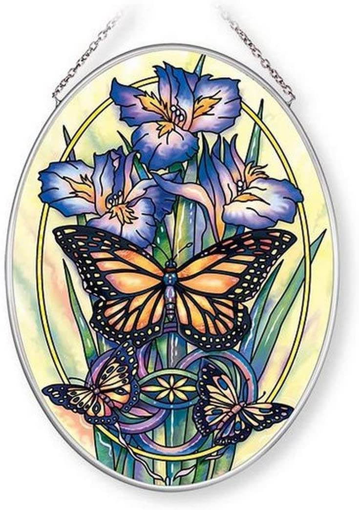 Amia New Day Has Come sold out Max 61% OFF Butterfly Inches Suncatcher Glass 7 High