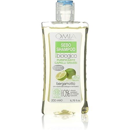 Omia Therapy Sebo Shampoo Eco Bio al Bergamotto, Capelli Grassi e Fragili con Dermatite Seborroica - 200 ml