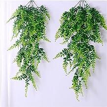 2 stks Kunstmatige Opknoping Vines Ferns Planten Fake Ivy Bladeren Wanddecoratie (Color : Green)