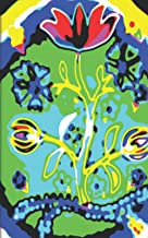 Tripping Psychedelic Flowers Ultimate Dual Working Notebook: Hybrid Half Dot Graph / Half Blank Line Composition Journal