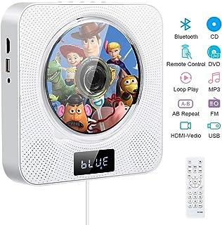 Lecteur de CD Portable, Lecteur CD/DVD de Musique Bluetooth à Fixation Murale avec 4K..