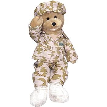 Chantilly Lane Animated American Hero Army Bear Flat River Group G1926