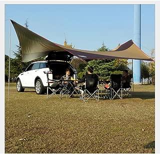 L&Z Toldo Impermeable Del Remolque/Toldo Portátil Del Toldo Del Coche SUV/Toldo Del Refugio Solar Para Acampar 550 * 560CM