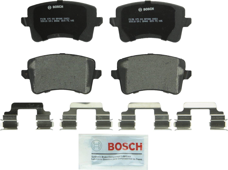 Bosch BP1386 QuietCast Premium Semi-Metallic Disc Brake Pad Set For Select Audi A4, A4 Quattro, A5, A5 Quattro, allroad, Q5, S4, S5, SQ5; Rear