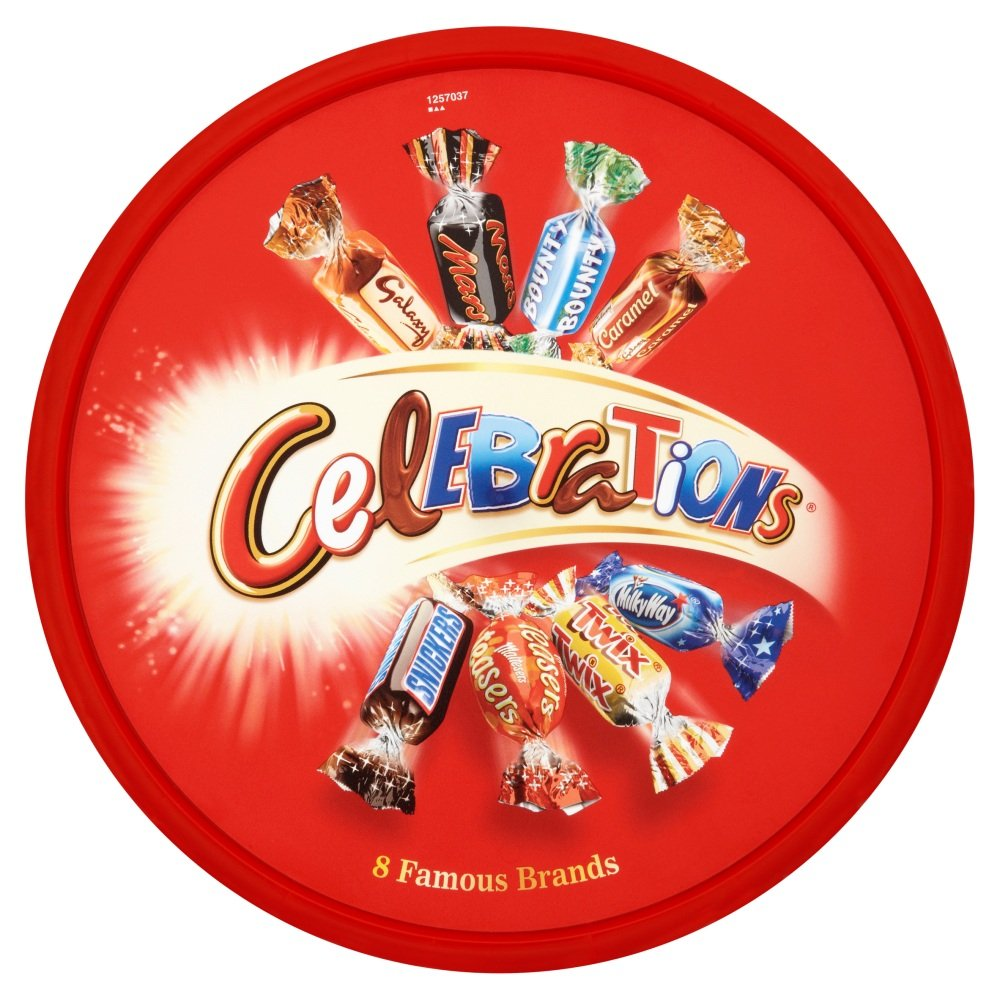 Complete Free Shipping Mars Celebrations Chocolate Bar Tubs 1 Pound of 1.43 Overseas parallel import regular item Pack