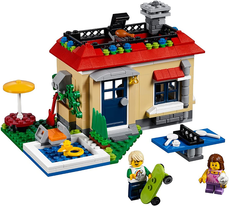 LEGO Creator Modular Poolside Holiday Building Kit, 356 Piece