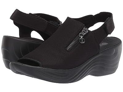 Bzees Zipline (Black Grid Print Fabric) High Heels