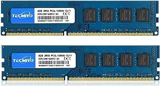 TECMIYO 16GB Kit (2x8GB) DDR3 / DDR3L 1600MHz UDIMM, PC3 / PC3L-12800 DIMM, PC3 / PC3L-12800U Non ECC Unbuffered 1.35V/1.5V CL11 2RX8 Dual Rank 240 Pin Desktop RAM Computer Memory Module