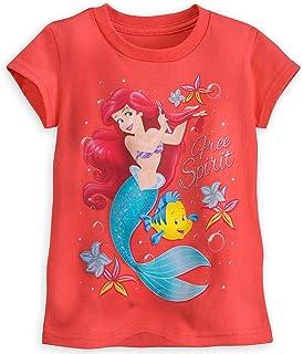 08ba80643 Disney Store Ariel & Flounder Little Mermaid Free Spirit Tee T-Shirt for  Girls