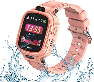 9Tong Cámara Impermeable para Niños Reloj Inteligente Pantalla Táctil GPS Rastreador de Niños Reloj SOS Anti-Lost Child Watch Phone para iOS y Andriod Smartphone