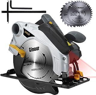Sierra Circular, Ginour 1500W 4700RPM Corte 67mm (90°),