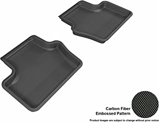 3D MAXpider Second Row Custom Fit All-Weather Floor Mat for Select Jeep Compass Models - Kagu Rubber (Black)