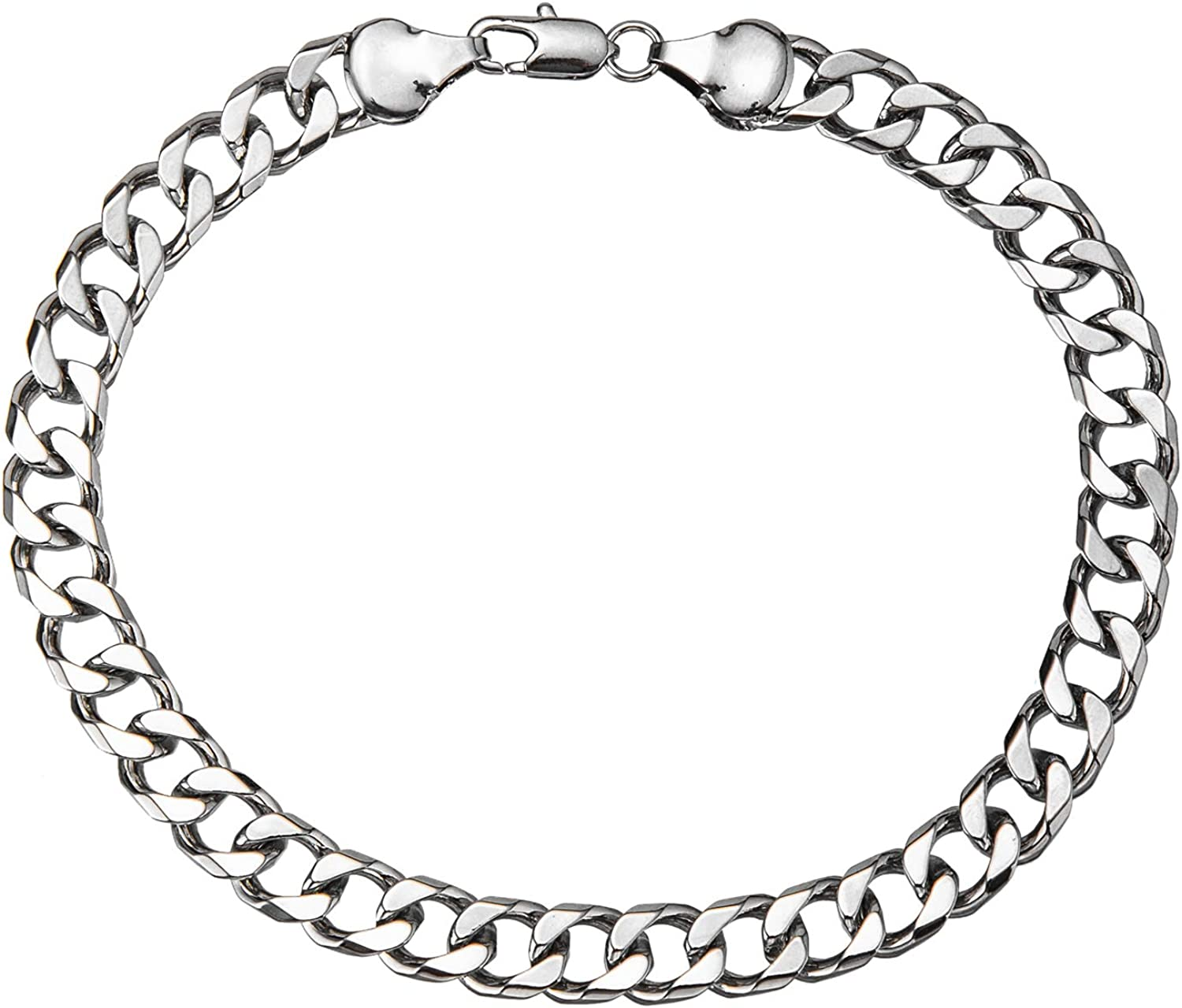 2021 spring and summer new 18K Gold White Plated 7mm Cuban Anklet Chain Women Link for Online limited product