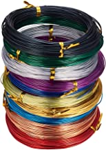 PandaHall Elite 10 Rolls Colored Aluminum Craft Wire 20 Guage Flexible Metal Artistic Floral Jewelry Beading Wire 10 Colors for DIY Jewelry Craft Making Each Roll 65 Feet