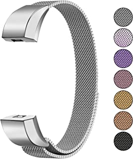 Mosonoi Compatiable with Fitbit Alta Bands, Adjustable Metal Bands Replacement Straps Fit for Fitbit Alta/Alta HR Smartwatch Women Men