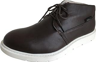 [アマート] メンズ レースアップ ショート ブーツ レイン 雨靴 防水 カジュアル アウトドア タウン 3色 AMT-1201 (LL(27.0 cm), D・ブラウン)