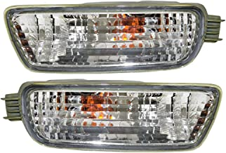 Signal Front Marker Lights Lamps Driver and Passenger Replacements for 01-04 Toyota Tacoma Pickup Truck 8152004080 8151004080