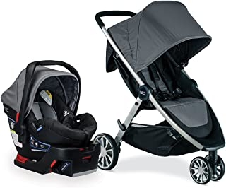 Britax B-Lively Travel System with B-Safe 35 Infant Car Seat, Dove - Birth to 55 Pounds