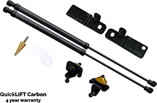 Redline Tuning 21-11030-04 Hood QuickLIFT Carbon Bolt-in Struts (All Black Components with Carbon Fiber Struts, 4 year warranty) Compatible for Ford Mustang Shelby GT350 2016+