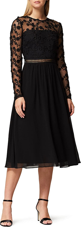 2021 Amazon Brand - San Francisco Mall Truth Fable Women's Embroidery Mini Lace A-line