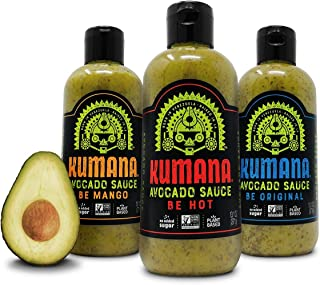 Kumana Sauce - 3 Bottle Variety Pack. Hot, Original and Spicy Mango flavors. (13 Oz. each)