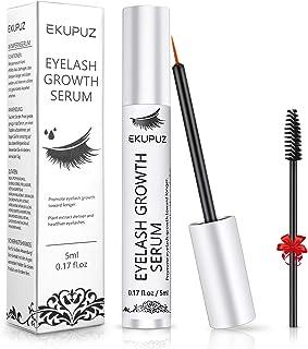 Eyelash Growth Serum, EKUPUZ Eyebrow Enhancer, Natural Ingredients Lash Boost Serum to Grow Longer Fuller Thicker Lashes a...
