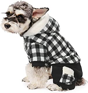 PAWZ Road Dog Plaid Coat Pet Winter Clothes Warm and Soft for Small and Medium Dogs