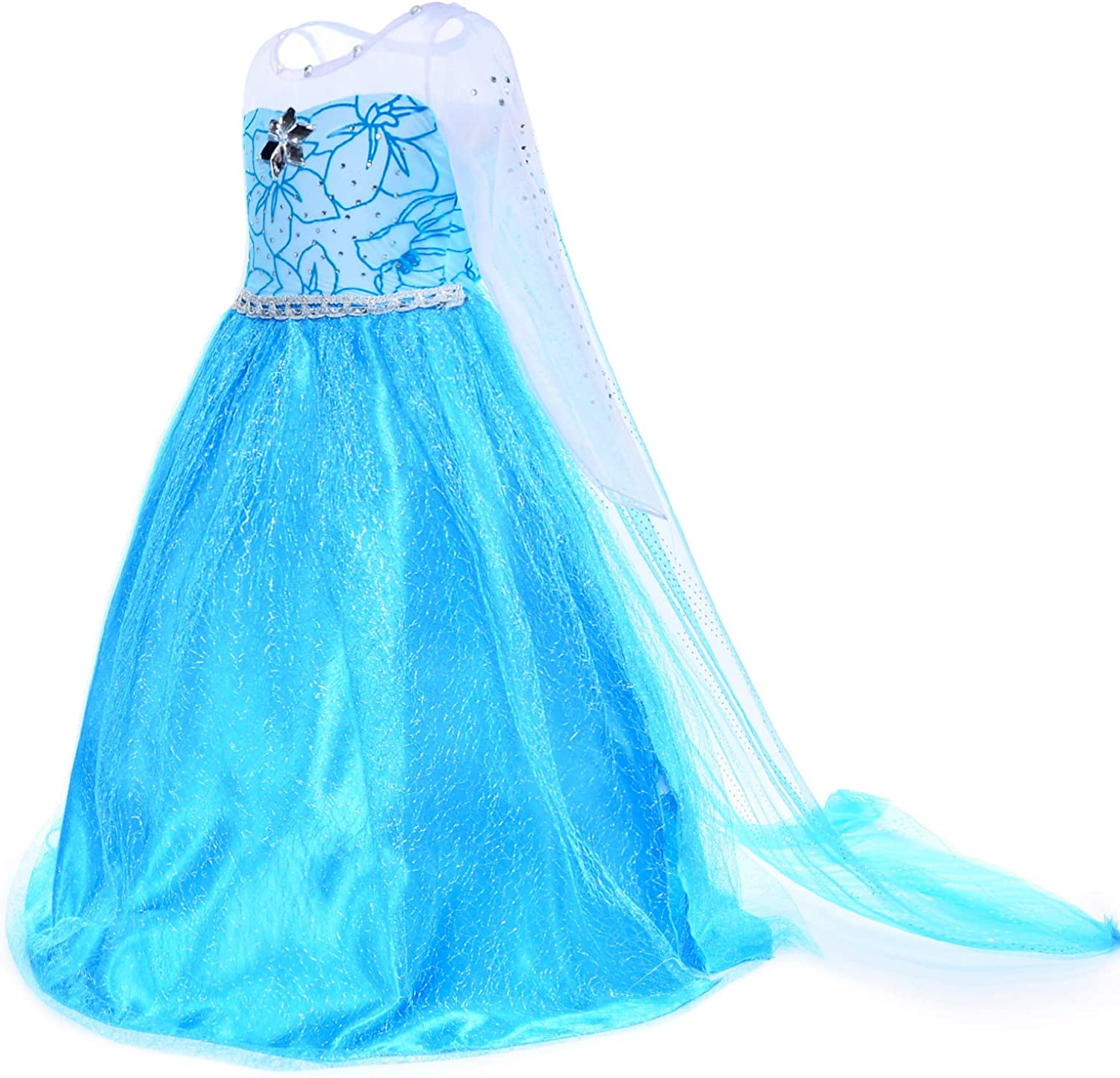 Snow Queen Princess Costumes Dress for Little Girls Birthday Party Dress Up Accessories 2-11 Years/…