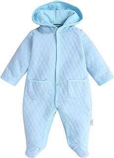 Pyjama Strampler Langarm Blau Baby Cat Schlafanzug
