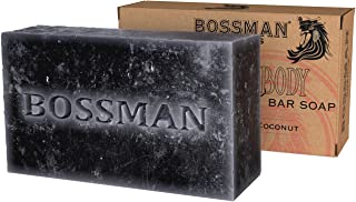 Bossman Men's Bar Soap 4-in-1 – Functions as Beard Wash - Shampoo - Body Wash and Conditioner – a Beard Care Essential (4....