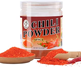 Yimi Spicy Hot Chili Powder, Chinese Chili Pepper Powder Seasoning, Spicy Hot Paprika for Szechuan Hot Pot, Medium Hot, 7oz, Holiday Gift