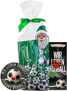 SV Werder Bremen Weihnachtspaket Mixbeutel Schokolade, Schokokugeln, Weihnachtsmann  je 1 x Aufkleber & 1 x Lesezeichen