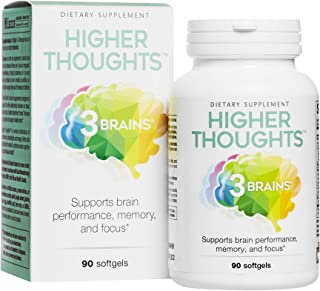 3 Brains by Natural Factors, Higher Thoughts, Support for Cognitive Health and Brain Function, Daily Dietary Supplement, 9...