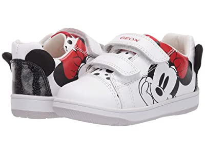 Geox Kids New Flick 14 Minnie Mouse (Toddler) (White) Girl
