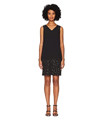Boutique Moschino Cady Dress with Star Detail (Fantasy Print Black) Women