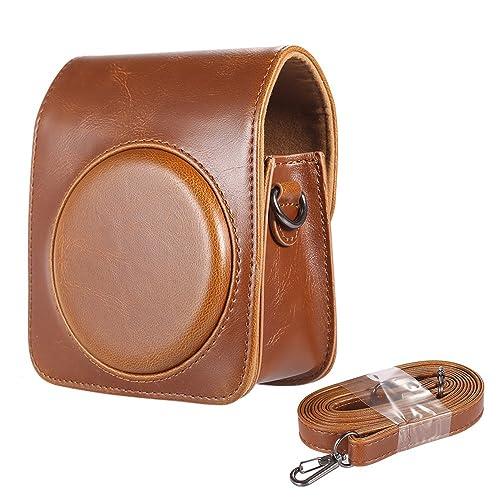 Andoer Classique PU Compact Vintage cuir cas sac pour appareil photo Fujifilm Instax Mini 70 pour Film instantané avec bandoulière