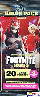 2020 Panini FORTNITE Trading Cards Series 2 Awesome HUGE Factory Sealed JUMBO FAT Pack with 22 Cards including 2 RARE CARDS! Look for Holofoil & Optichrome Holo Parallels, Outfits & Map Cards! WOWZZER