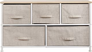 SogesHome Armoire de rangement multifonction à 5 tiroirs pour chambre à coucher, salon, dortoir, buanderie, beige SH-WK-10...