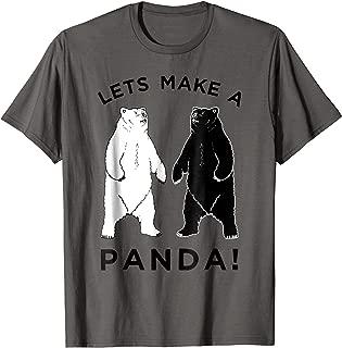 Lets Make A Panda Tee, Funny Bear Graphic T-Shirt
