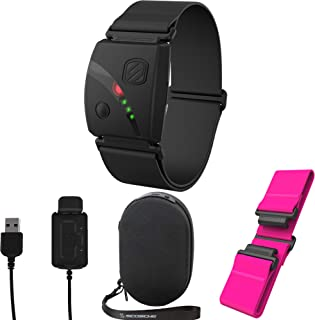 Scosche Rhythm 24 Bundle - Including Rhythm 24, Charge Case, Pink Replacement Strap, and Extra Charger