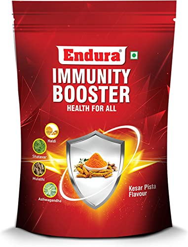 Endura Immunity Booster Natural Immunity Boosting Ingredients Blend of Haldi Shatavar Mulethi and Ashwagandha Vitamin B Vitamin C Zinc Selenium and Folic Acid
