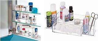 InterDesign 42940EU Pharmacie + Linus Serviteur à Tiroir Transparent