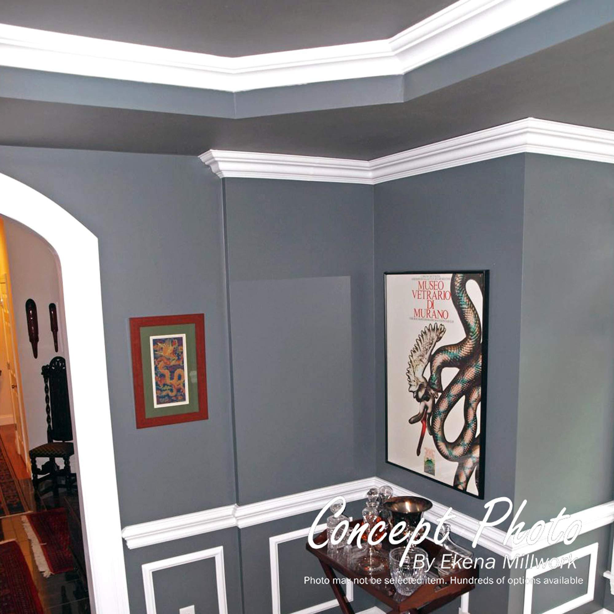 Amazon Com Ekena Millwork Cha03x01be Bedford Chair Rail 3 H X 5 8 P X 94 1 2 L Primed Home Improvement